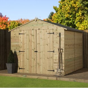 8 Ft. W X 10 Ft. D Shiplap Wooden Shed By WFX Utility