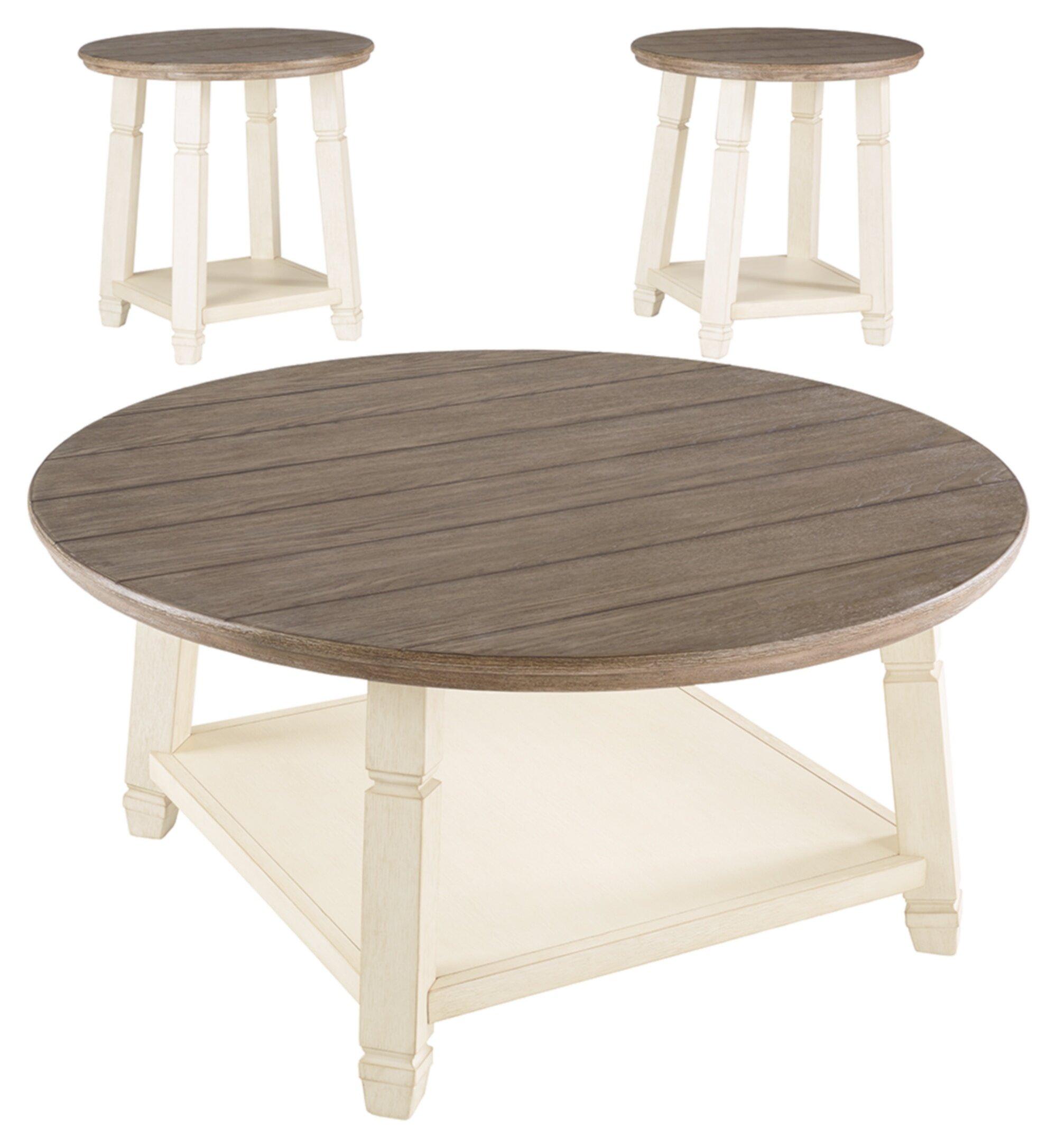 - August Grove Hackett 3 Piece Coffee Table Set & Reviews Wayfair
