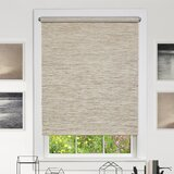 Gracie Oaks Cordless Privacy Jute Grey Roller Shade