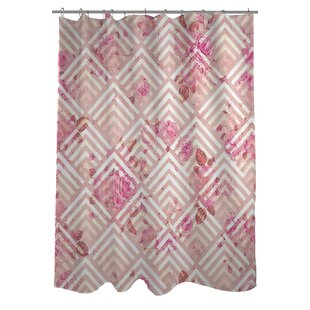 Saeko Scale Floral Single Shower Curtain