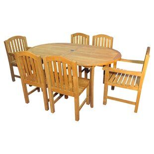 Bueller 7 Piece Teak Dining Set