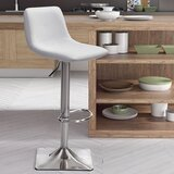 Vonnie Adjustable Height Swivel Bar Stool by Brayden Studio®