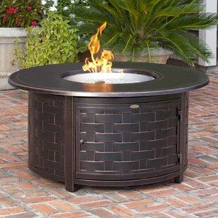 Perissa Woven Aluminum Propane Fire Pit Table