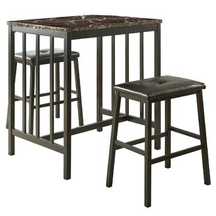 Gerke Counter Height 3 Piece Pub Table Set Red Barrel Studio