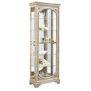 Ouzts Lighted Curio Cabinet by One Allium Way