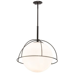 Brayden Studio Crosswhite 1-Light Globe Pendant