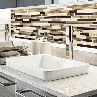 DECOLAV Classically Redefined Ambre Ceramic Rectangular Vessel Bathroom Sink