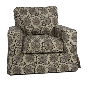 Columbus Slipcovered Armchair and Ottoman by..