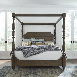 Wilmes California King Low Profile Canopy Bed by Canora Grey