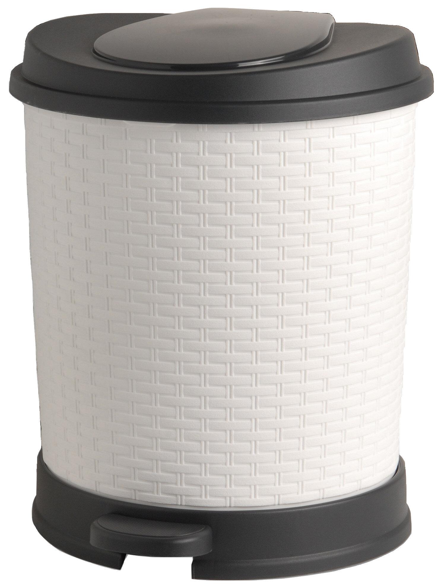Superior Performance Plastic 5 5 Gallon Step Trash Can & Reviews