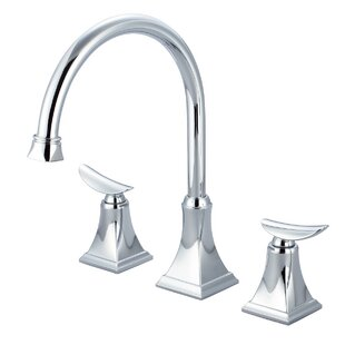 Just Manufacturing Double Handle Kitchen Faucet with Pop-up Drain