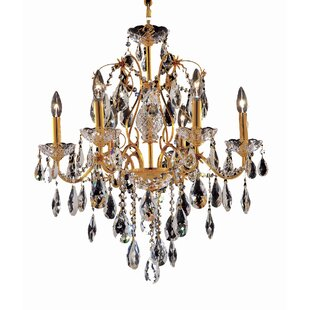 Rosdorf Park Thao 6-Light Candle Style Chandelier