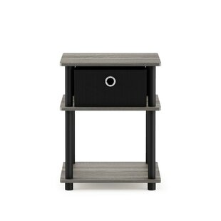 End Side Table Nightstand 3 Tier Shelf Modern Blackwood Office Home Furniture