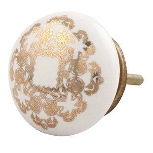 Flat Ceramic Mushroom Knob