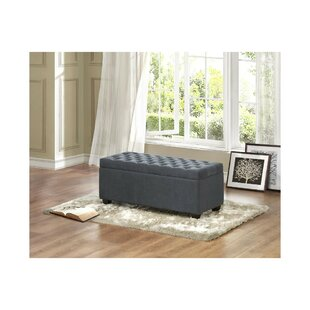 Burger Lift-up Upholstered Storage Bench by Alcott Hill