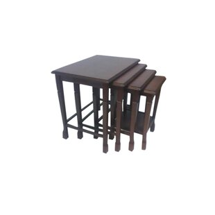 Inexpensive 4 Piece Nesting Tables by Beyan Signature