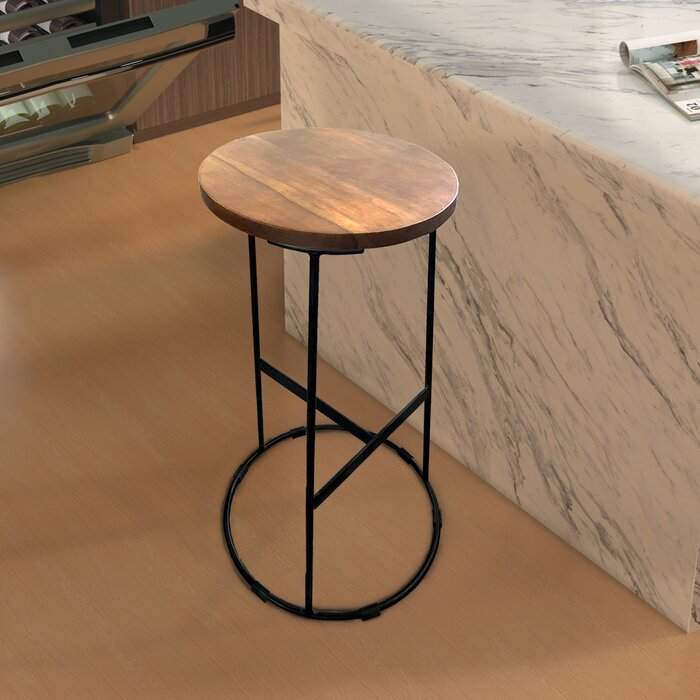Admirable Polson Round Iron Base 30 Bar Stool Creativecarmelina Interior Chair Design Creativecarmelinacom