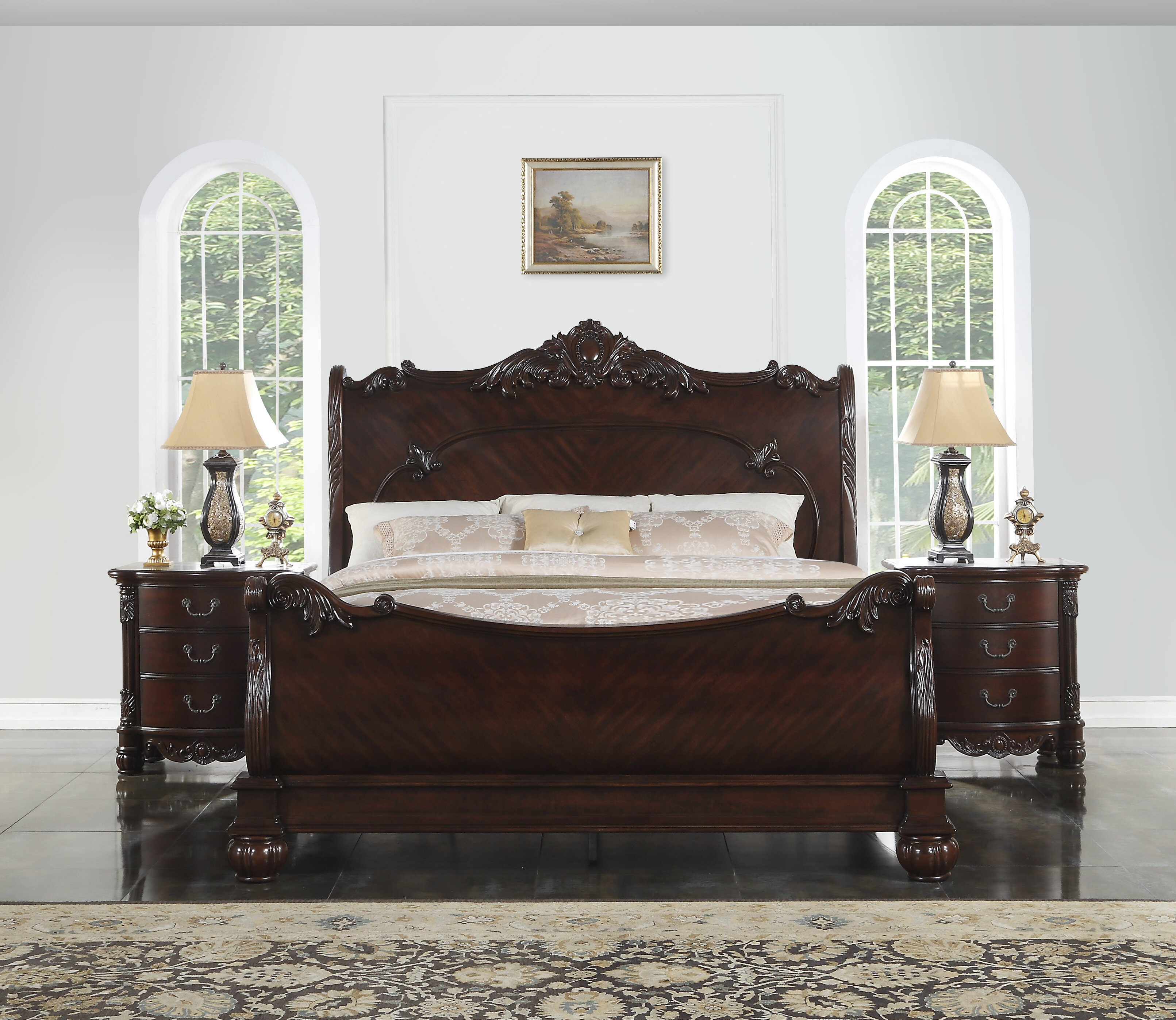 - Astoria Grand Treyton Solid Wood Sleigh Bed & Reviews Wayfair