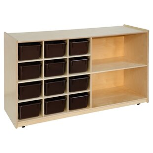 Bargain Storage 12 Compartment Cubby with Trays ByWood Designs