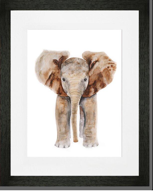Oopsy Daisy \'Baby Elephant Portrait\' by Brett Blumenthal Framed ...