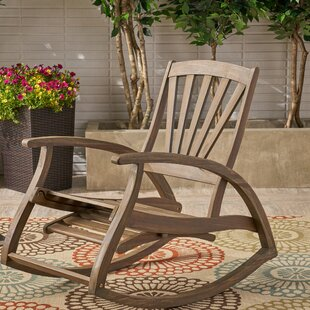 Cathleen Outdoor Rocking Chair by Highland Dunes