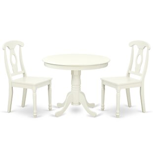Koski 3 Piece Solid Wood Breakfast Nook Dining Set