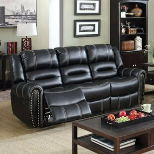 Red Barrel Studio Gandara Breathable Leatherette Recliner Sofa