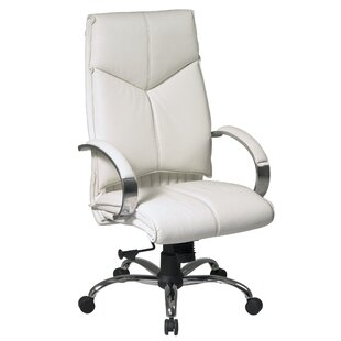 Office Star Products Pro-Line II Series High-Back Leather Executive Chair