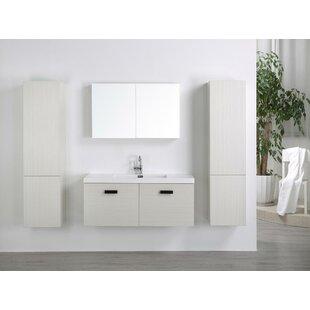 Auten Modern 24 Wall Mounted Single Bathroom Vanity Set