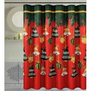 Bath Christmas Decorative Christmas Bells Single Shower Curtain