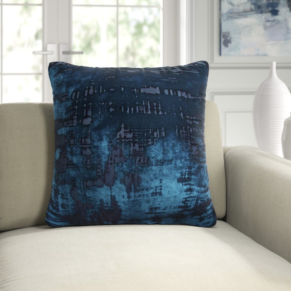 Kevin O Brien Studio Brushstroke Velvet Abstract Throw Pillow Perigold