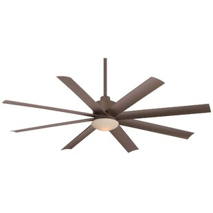 65 Slipstream 8 Blade Outdoor Ceiling Fan with Remote, Light Kit Included