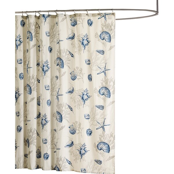 Beachcrest Home Cotton Single Shower Curtain Reviews Wayfair