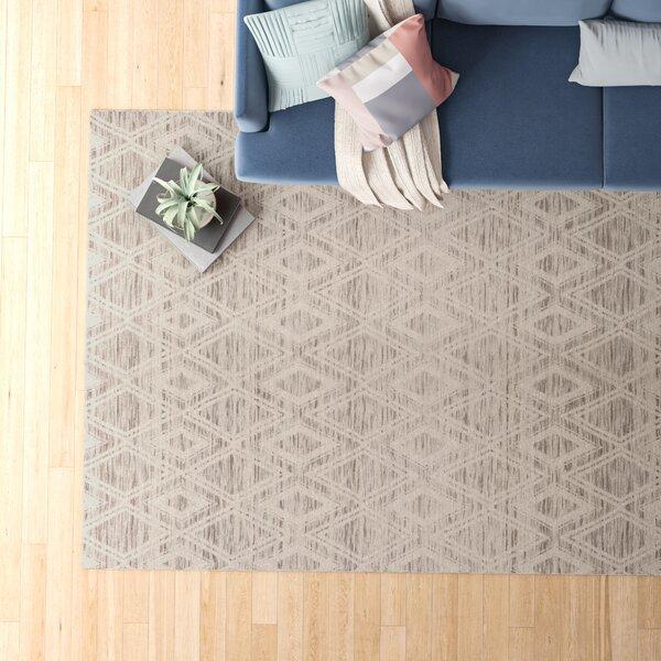 Foundstone Jon Geometric Handmade Flatweave Wool Light Brown Ivory Area Rug Reviews Wayfair
