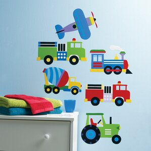 Kids Trains, Planes And Trucks Wall Decal Part 92