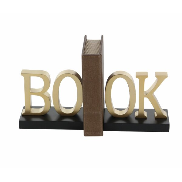 SPI Home Pair of Boy Writing and Girl Reading Bookends Brass Bronze Patina 7.5/'H