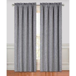 Harvey Solid Room Darkening Curtain Panels (Set of 2) by Alcott Hill
