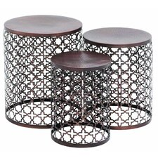 Metal 3 Piece Nesting Tables by Cole & Grey
