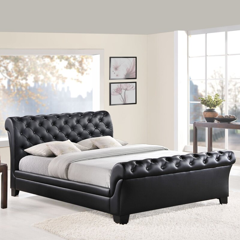 default_name - Sleigh Bed Frame Queen