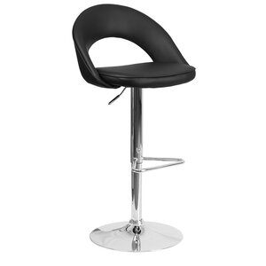 Andrea Adjustable Height Swivel Bar Stool Orren Ellis