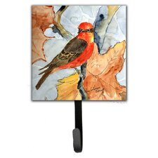 Verimillion Flycatcher Bird Leash Holder and Wall Hook by Caroline's Treasures