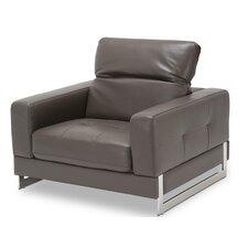 Mia Bella Novelo Leather Club Chair by Michael Amini (AICO)