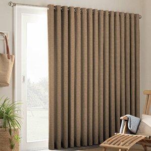 Key Largo Patio Door Solid Semi Sheer Grommet Single Curtain Panel
