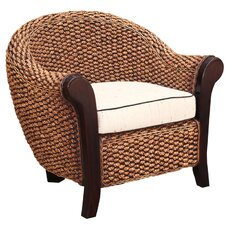 Water Hyacinth Soldano Barrel Chair by Chic Teak