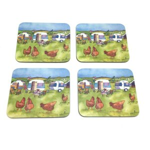 8 Piece Glamping Coaster and Placemat Set