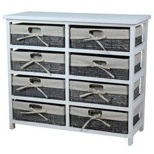 Wooden Storage 8 Drawer Accent Chest by Vintiquewise