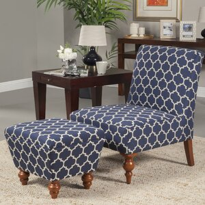Norridge Slipper Chair and Ottoman by Alcott Hill