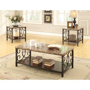 wrought iron coffee table sets you'll love | wayfair