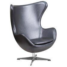 Leather Egg Lounge Chair by Flash Furniture