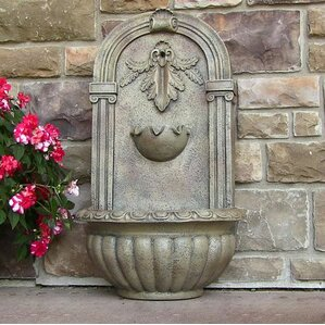 polystone florence outdoor wall fountain
